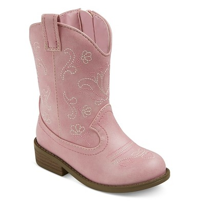 Toddler Girls' Chloe Classic Cowboy Western Boots Cat & Jack™ - Pink 6