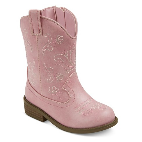 09d53325fa1 Toddler Girls  Chloe Classic Cowboy Western Boots - Cat   Jack™ Pink ...