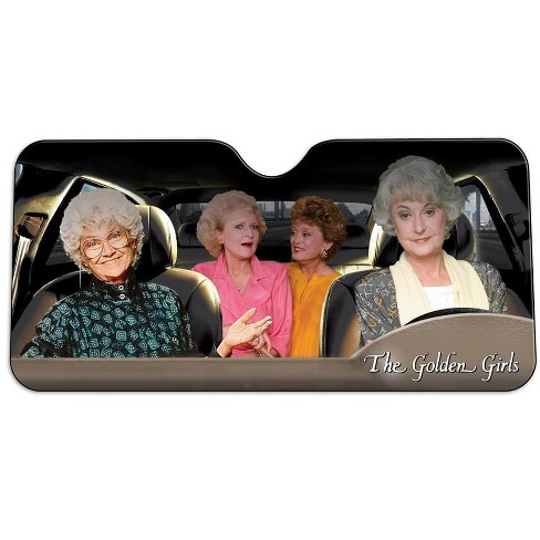 Just Funky Golden Girls Car Windshield Sun Shade - image 1 of 3