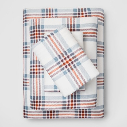 Fall Flannel Sheet Set Threshold Target