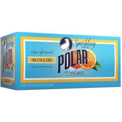 Polar Orange Dry Sparkling Beverage - 8pk/12 fl oz Cans