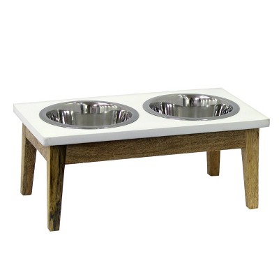 Elevated Dog Feeder With Wooden Stand - Small - Threshold™