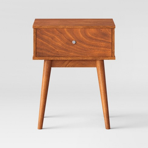 "24"" Amherst Mid Century Modern Side Table Brown - Project 62™ - image 1 of 4"