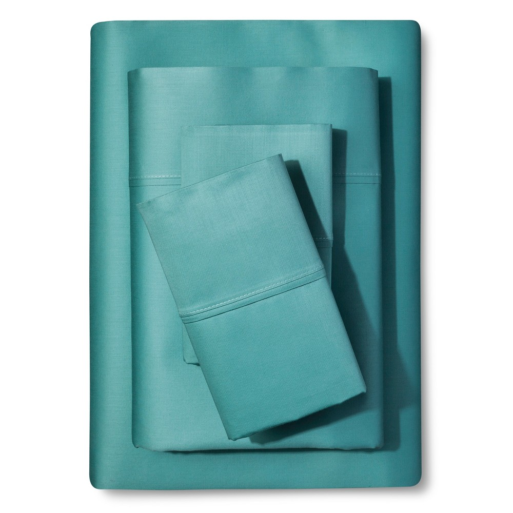 Solid Sheet Set (King) Aquifer - Seedling by Thomas Paul, Lite Blue