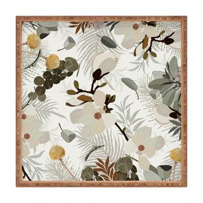 Iveta Abolina Ella Cream Square Bamboo Tray - Deny Designs