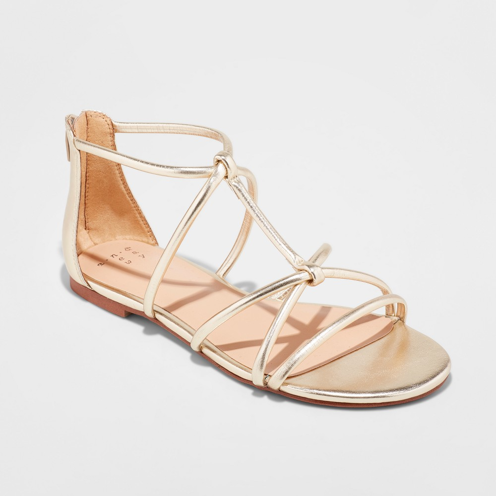 Women's Samina Tubular Gladiator Sandal - A New Day Gold 7.5