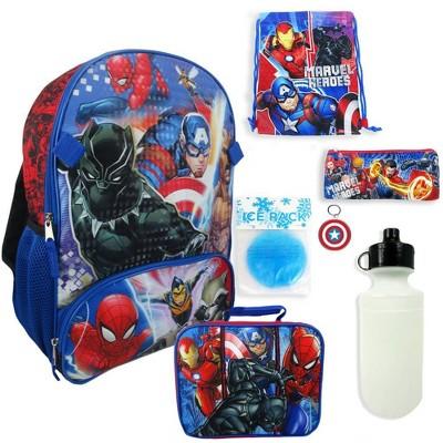 Marvel Avengers 16  Kids' Backpack - 7pc Set
