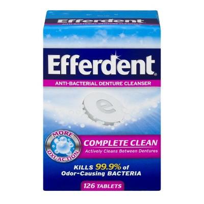 Efferdent Anti Bacterial Denture Cleanser Tablets   120ct by Efferdent
