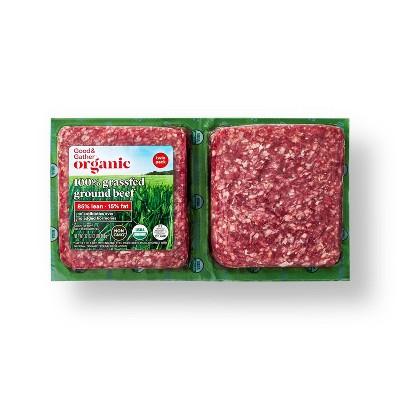 Organic 100% Grassfed Ground Beef Twin Pack - 2lbs - Good & Gather™