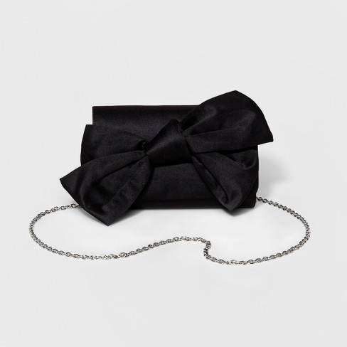 Estee & Lilly Women's Satin Bow Clutch - image 1 of 3