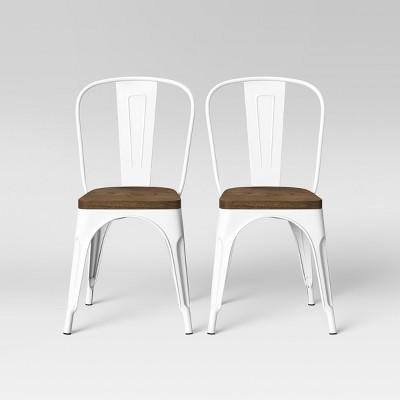 Set of 2 Carlisle High Back Wood Seat Dining Chair Matte White - Threshold™