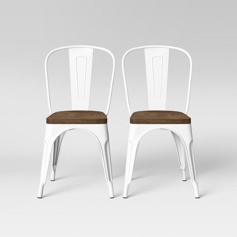 Set of 2 Carlisle High Back Wood Seat Dining Chair Matte White - Threshold™ - image 1 of 4