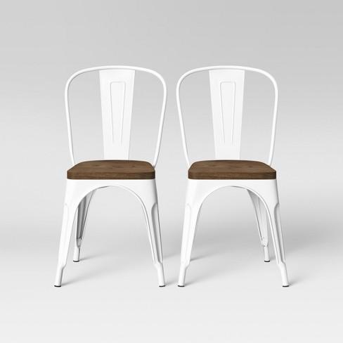 Set of 2 Carlisle High Back Wood Seat Dining Chair Matte White - Threshold™ - image 1 of 5