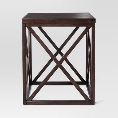 Dixfield Wood Side Table Espresso - Threshold™