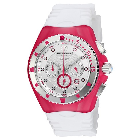 Women's Technomarine TM-115238 Cruise Original Quartz Silver and Red Dial Strap Watch - White - image 1 of 1