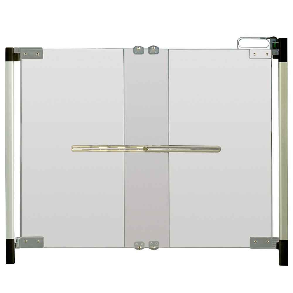 Image of Qdos Crystal Baby Safety Gate - Hardware Mount, Clear