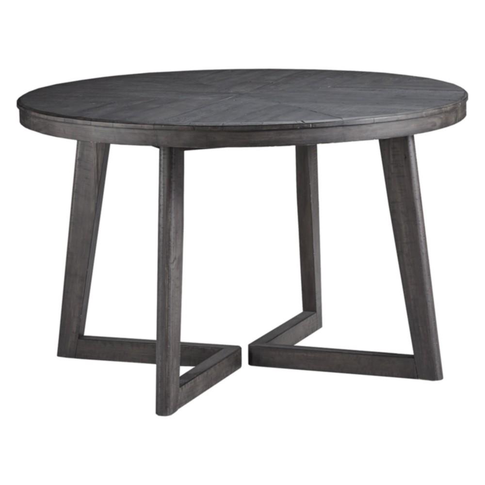 Besteneer Round Dining Room Table Dark Gray - Signature Design by Ashley