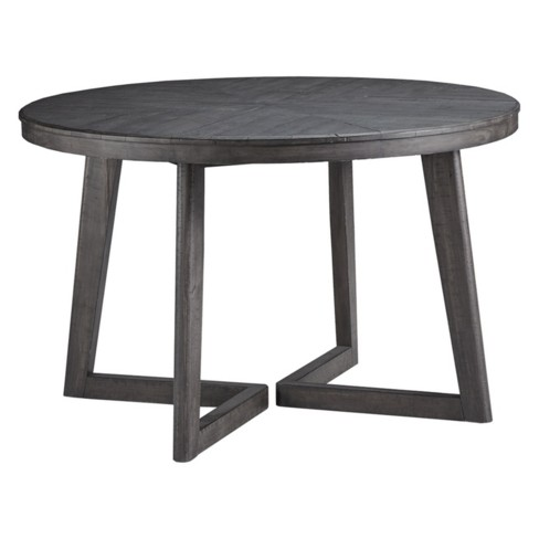 Besteneer Round Dining Room Table Dark Gray Signature Design By