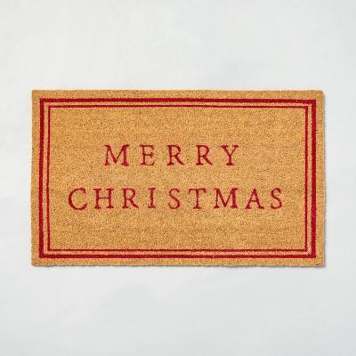 'Merry Christmas' Seasonal Doormat Red - Hearth & Hand™ with Magnolia