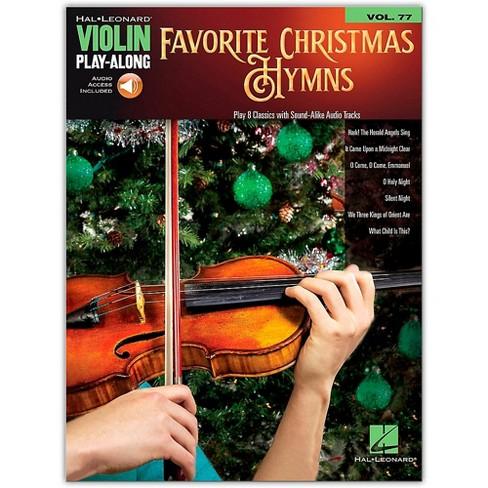 Hal Leonard Favorite Christmas Hymns (Violin Play-Along Volume 77) Book/Audio Online - image 1 of 1