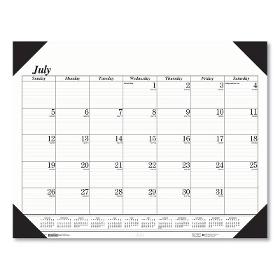 House of Doolittle Recycled Economy 14-Month Academic Desk Pad Calendar, 22x17, 2020-2021 12502