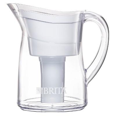 Brita® Mini Plus Water Filtration Pitcher White 6 Cups