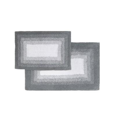 Whitney Ombre Reversible 2 Piece Bath Rug Set Hi Rise Gray - Chesapeake Merchandising Inc.