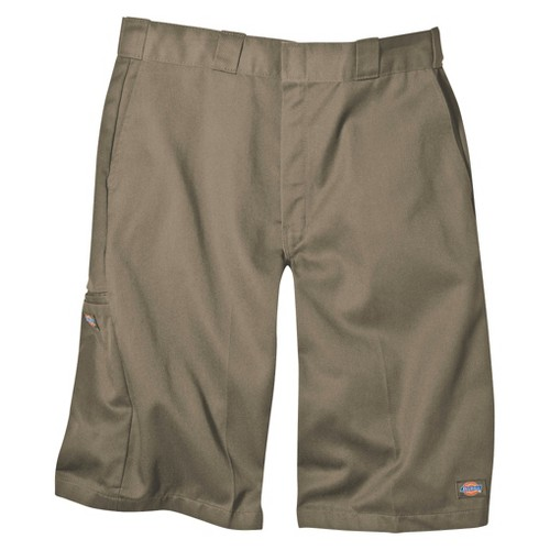 'Dickies Men's Big & Tall Loose Fit Twill 13'' Multi-Pocket Work Shorts- Khaki 46, Green'