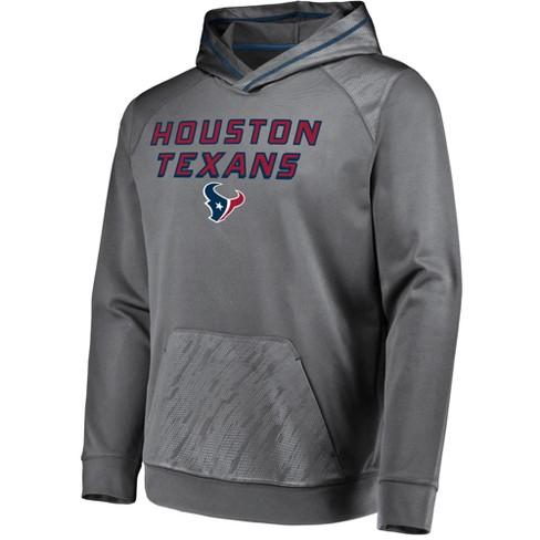 finest selection 4d8ed c2280 NFL Houston Texans Men's Geo Fuse Gray Embossed Performance Hoodie