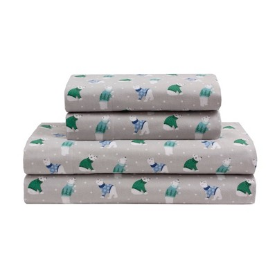 Printed Pattern Cotton Flannel Sheet Set - Elite Home Products