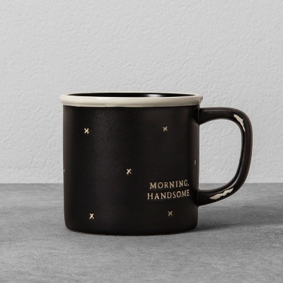 Morning Handsome Stoneware Mug - Black - Hearth & Hand™ with Magnolia