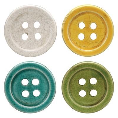 Button Coasters - Set of 4 - 3R Studios