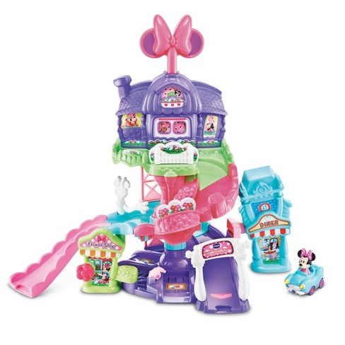 VTech Go! Go! Smart Wheels Disney Minnie Mouse Around Town Playset - image 1 of 4