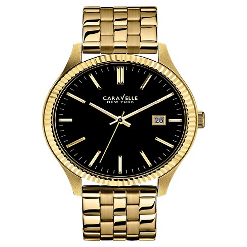 Caravelle New York by Bulova Men's Gold-Tone Stainless Steel Bracelet Watch - 44B105 - image 1 of 1