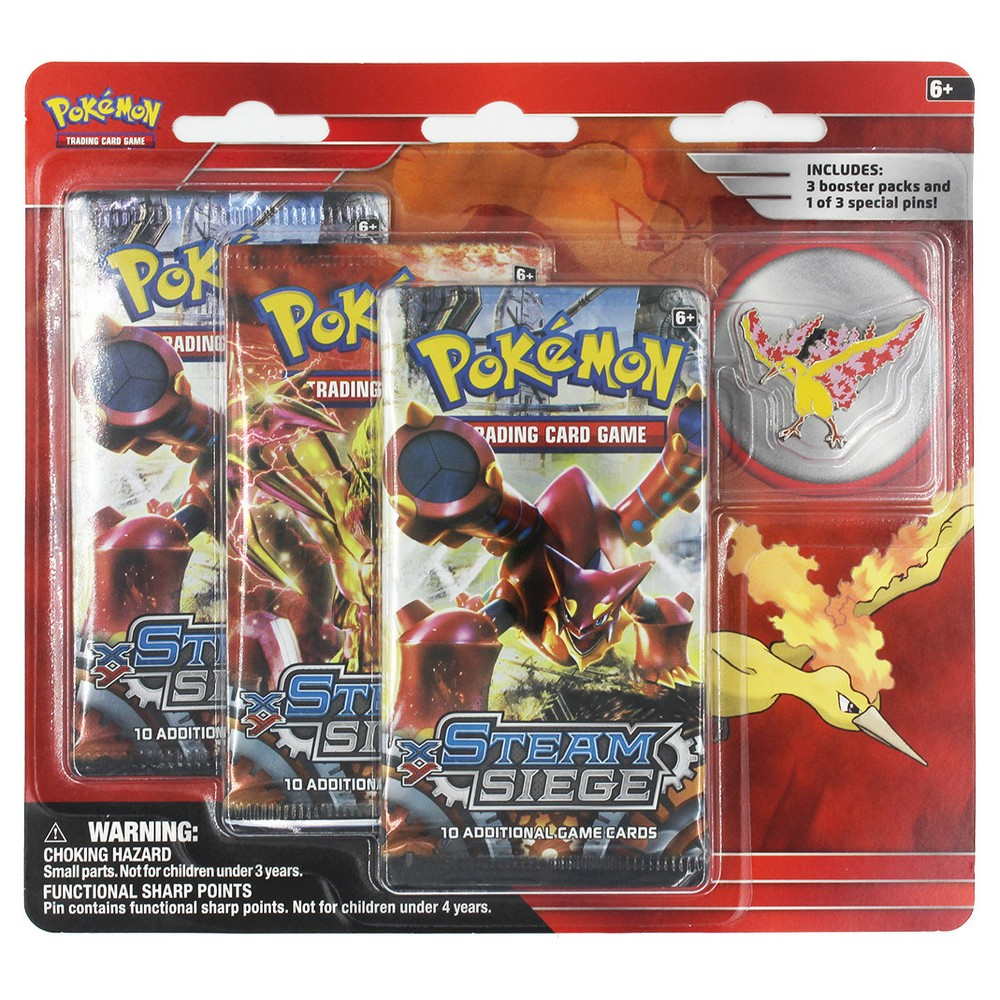 2016 Pokemon 3 Pk Pin Bl-Moltres Collectible Trading Cards
