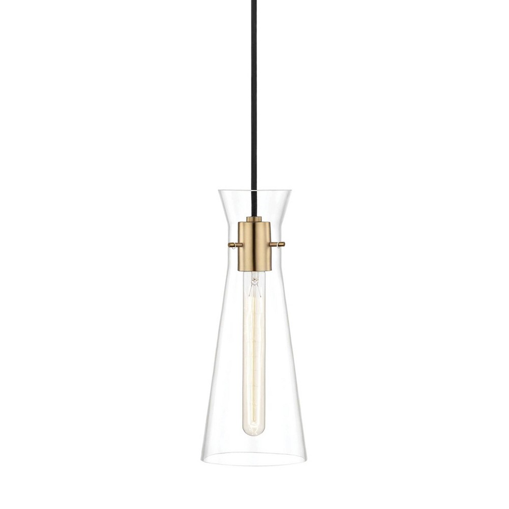 Anya 1-Light Pendant Chandelier Aged Brass - Mitzi by Hudson Valley Top