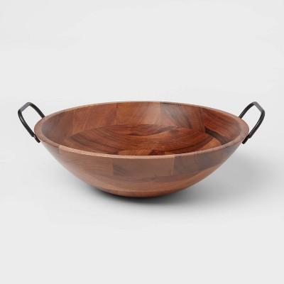 123oz Wood Serving Bowl Black - Threshold™