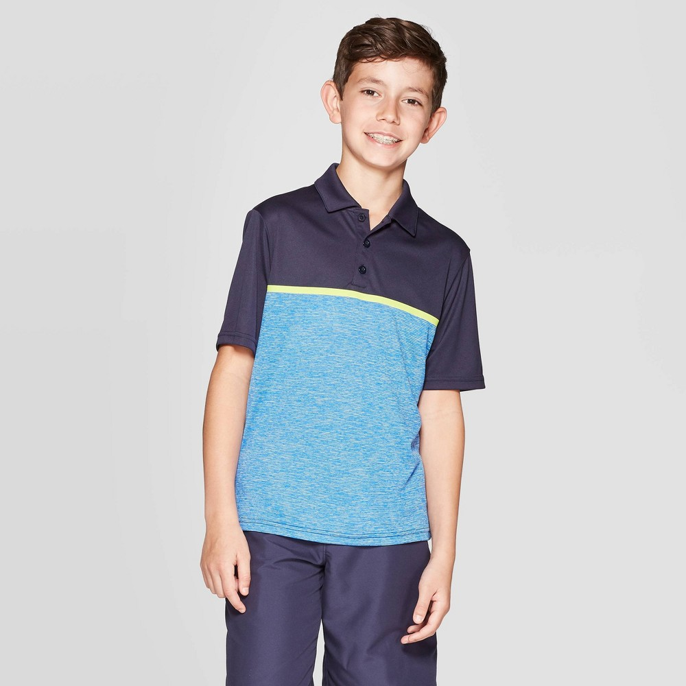 Image of Boys' Chest Stripe Golf Polo Shirt - C9 Champion Navy L, Boy's, Size: Large, Blue