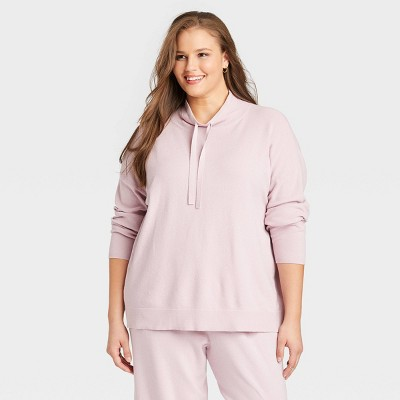 Women's Plus Size Cowl Neck Pullover Sweater - Ava & Viv™