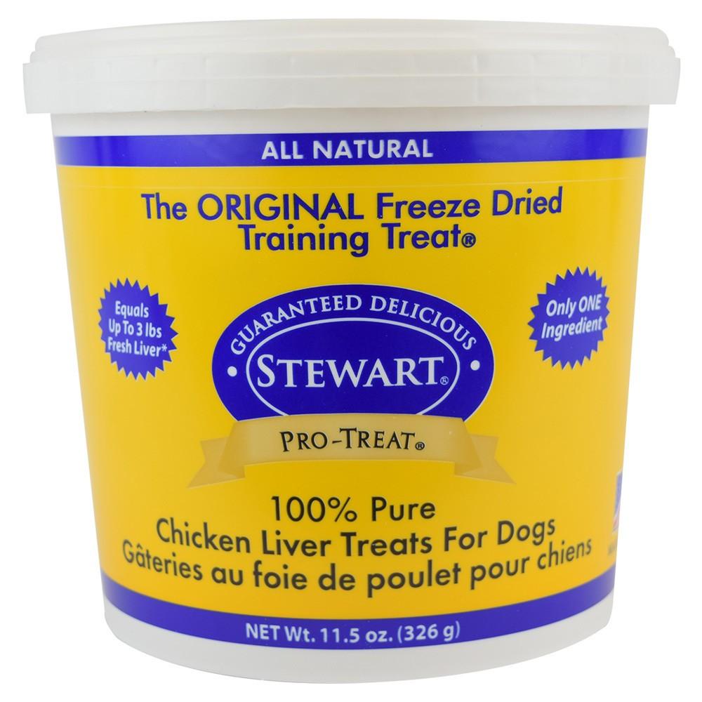 Stewart Freeze-Dried Chicken Liver Dog Treat - 11.5oz Tub