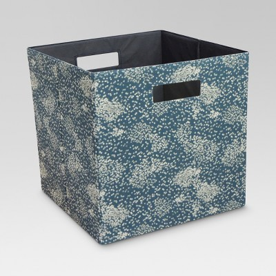 Fabric Cube Storage Bin Blue 13  - Threshold™