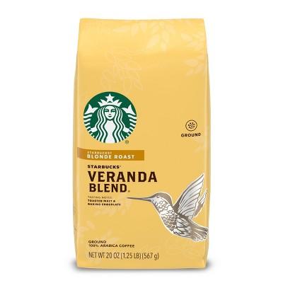 Starbucks Blonde Roast Ground Coffee — Veranda Blend — 100% Arabica — 1 bag (20 oz.)