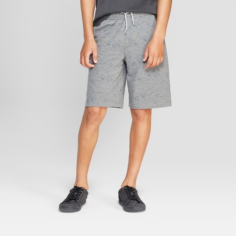 Boys' Knit Pull-On Shorts with Pockets - Cat & Jack™ Gray - image 1 of 3