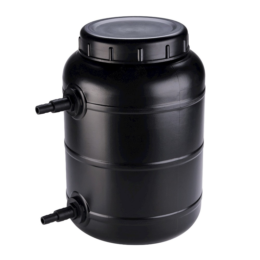 "Image of ""13.39"""" Pond Boss Pressurized Pond Filter up to 900 Gallons, Black"""
