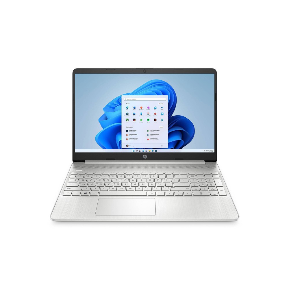 """HP 15.6"""" Touchscreen Laptop with Windows 10 S Mode, 256GB SSD storage, Intel Core i3 10th Gen processor, Natural Silver (15-dy1025nr)"""