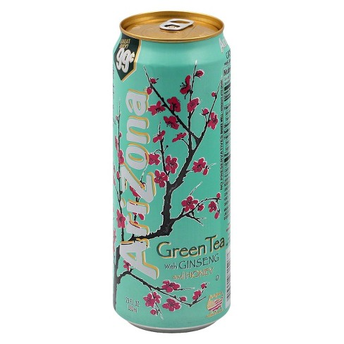 arizona green tea with ginseng and honey 23 fl oz can target