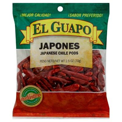 El Guapo Chile Japones Bag Whole - 2.5oz