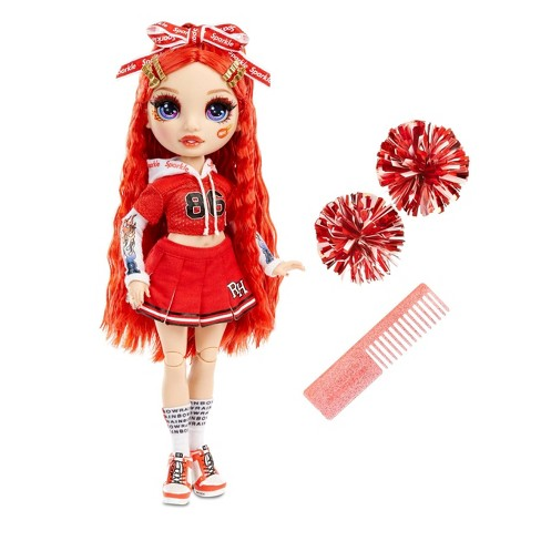 Rainbow HighCheer Ruby Anderson - RedFashion Dollwith Cheerleader Outfit andDoll Accessories - image 1 of 4