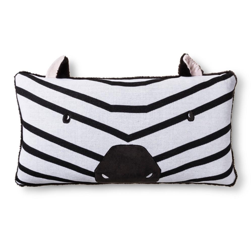 Zebra Body Pillow Black & White - Pillowfort