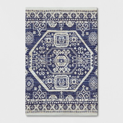 Blue Jacquard Woven Accent Rug 2'X3' - Threshold™